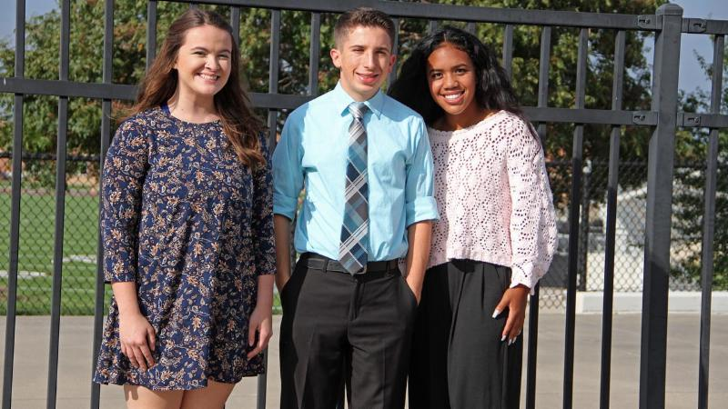 Hannah Stauss, Grant Westfall and Sarah Cornerstone