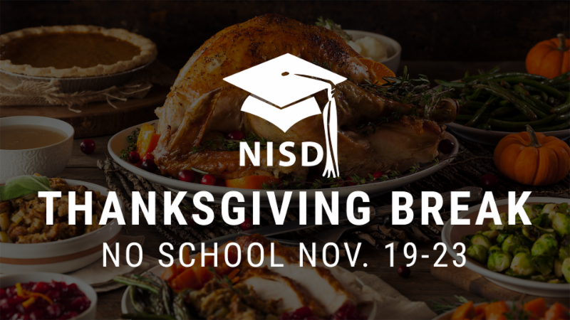 Thanksgiving break will take place Nov. 19-23