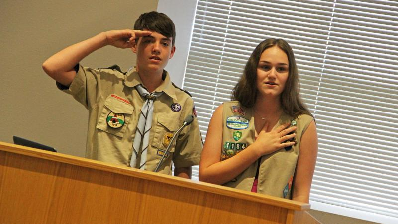 Students from Tidwell and Byron Nelson led the pledge.