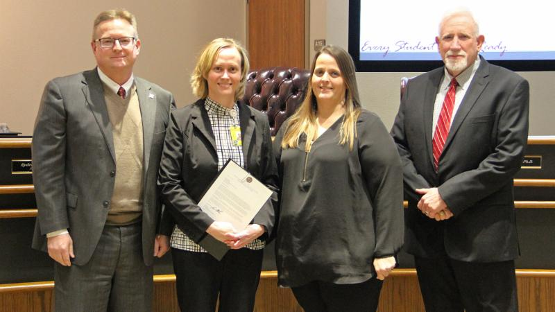 Trustees recognized Aramark for winning the state_s Best of the Bunch award.