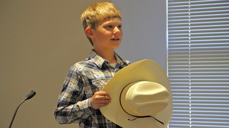 A Nance Elementary School student led the pledge.
