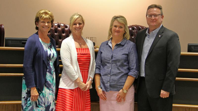 Trustees recognized Fellowship of the Parks for serving as a Partner in Education.