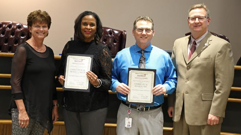 Beck and Chisholm Trail principals accept recognition