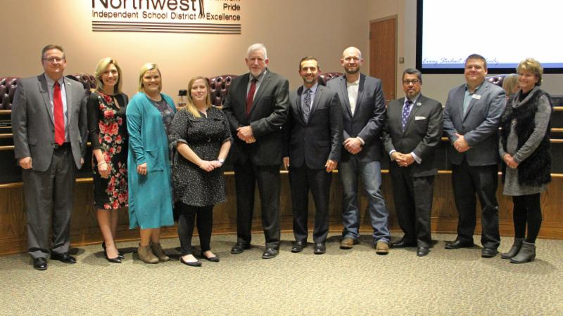Trustees recognized Barnes and Noble of Southlake and the Northwest ISD Education Foundation for donating books to district schools and students.