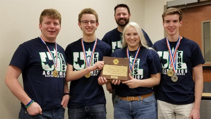 Eaton High School_s state-qualifying current issues team