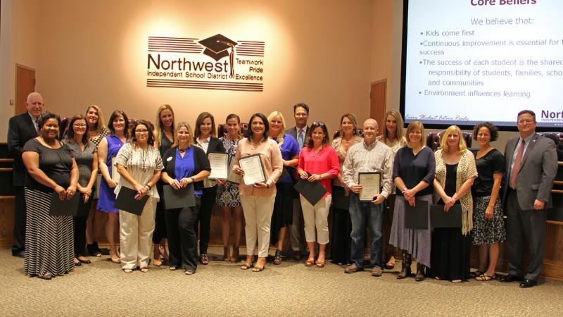 Trustees recognized community members who took part in Leadership NISD.