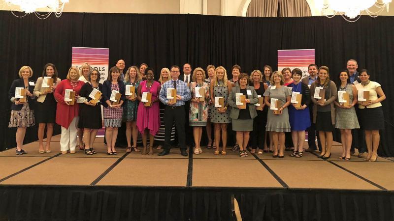 Principals accepting Schools Transforming Learning awards