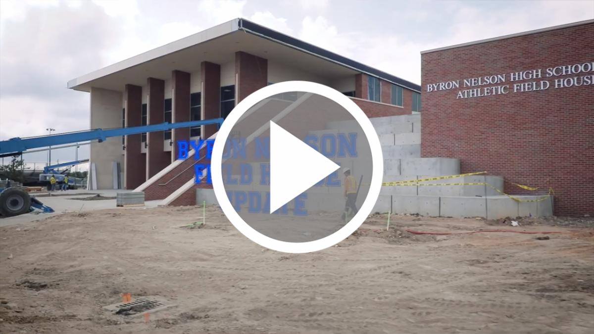 A still frame of the Byron Nelson Field House video