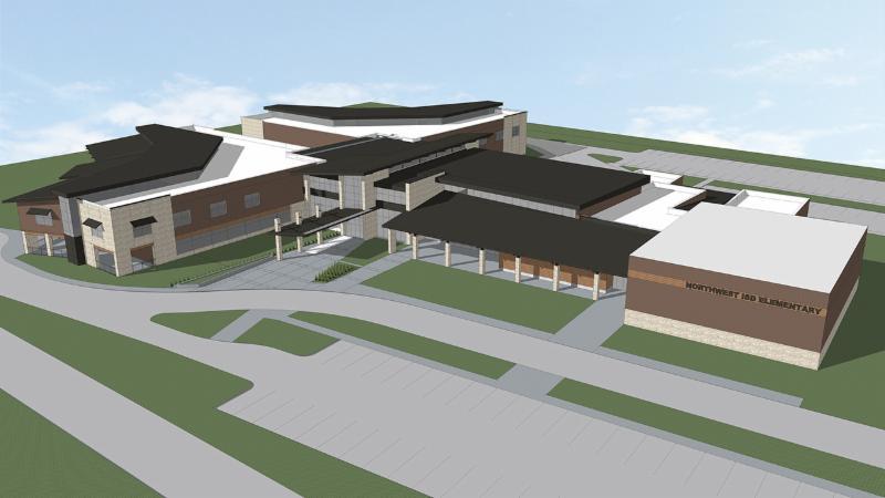 A rendering of Northwest ISD_s new prototype elementary school