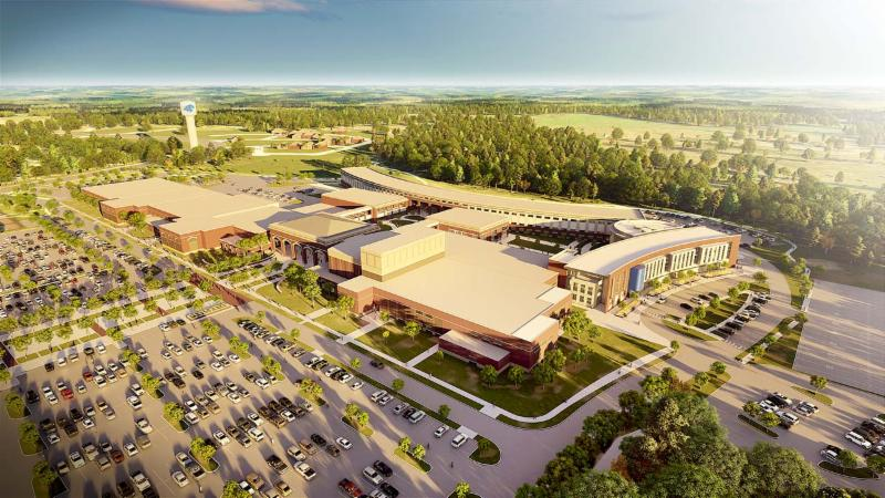 A rendering of Byron Nelson High School_s expansion