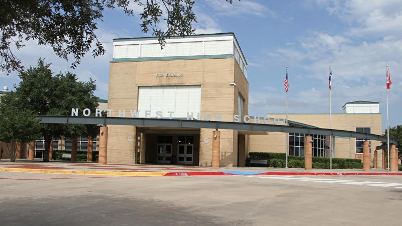 A photo of the front of Northwest High School