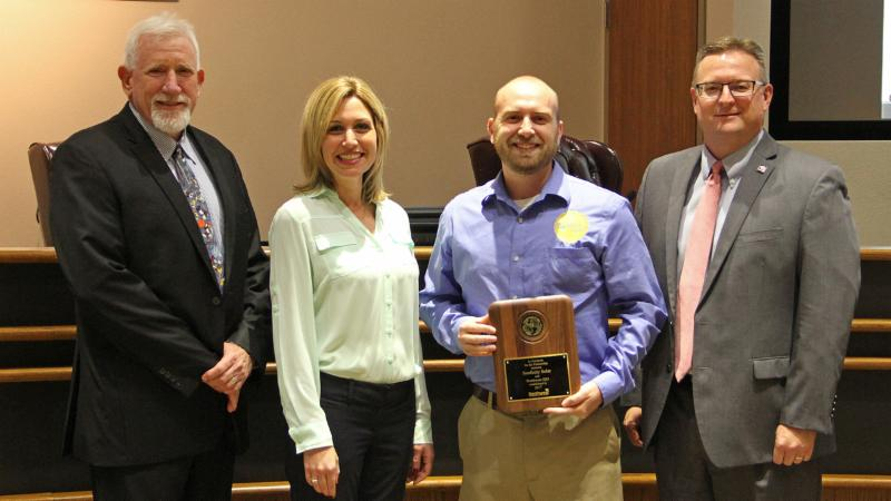 Trustees recognized Sunfinity Solar for serving as a Partner in Education.
