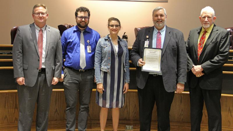 Trustees recognized the Technology Department for being included in the Digital School District Survey Awards for the sixth straight year.