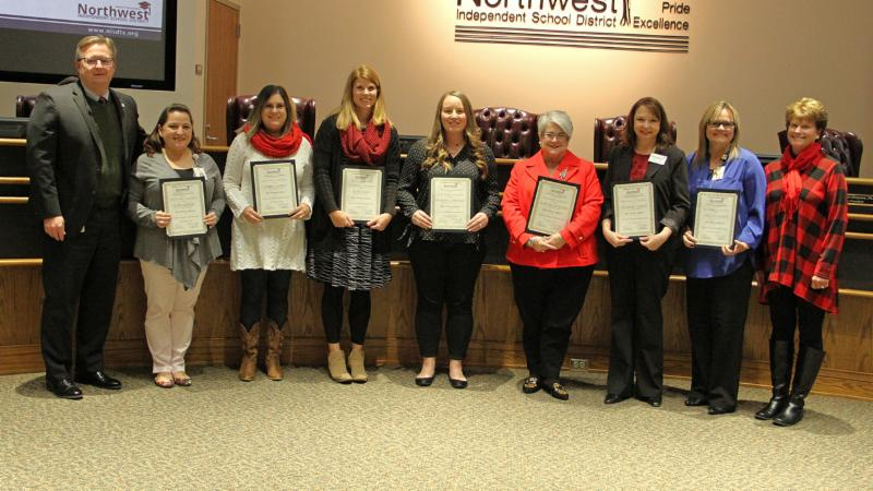 Trustees recognized the district Parents as Teachers program for being named a Blue Ribbon Affiliate.
