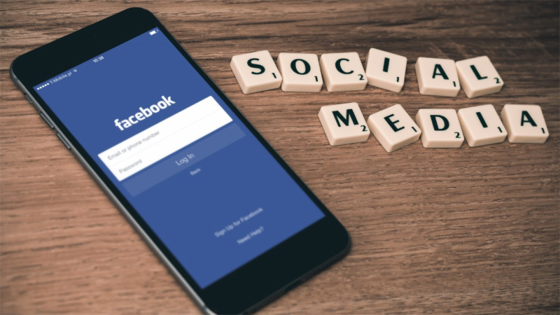 A Facebook application on a smartphone