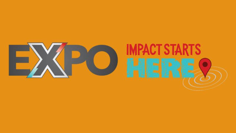 The Expo logo and slogan Impact Starts Here