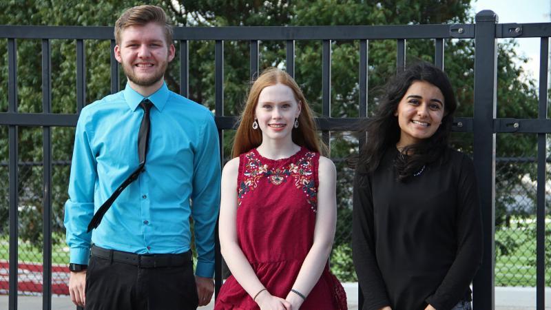 2017 National Merit Semifinalists Tobey Mathis_ Zoe Bass and Haniyah Burney