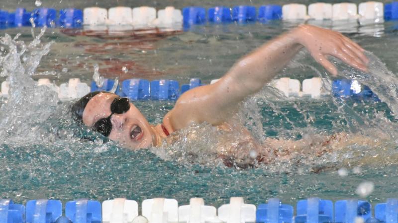 Northwest_s Elisabeth Lalpuis swims at a recent meet