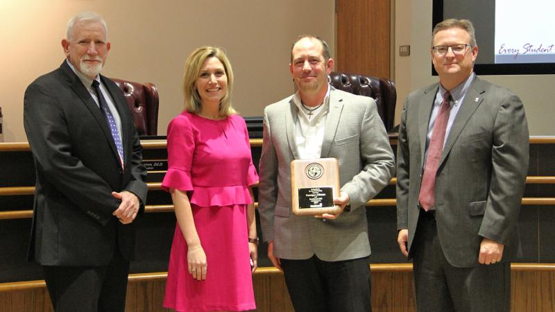 Trustees recognized Fastsigns Alliance as a district Partner in Education.