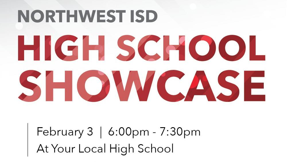 An image with text saying High School Showcase February 3 at your local high school