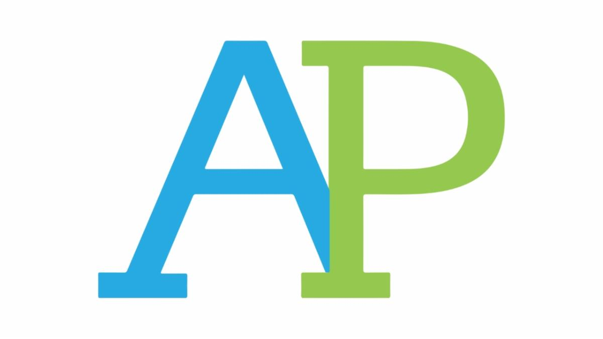 The AP logo for Advanced Placement