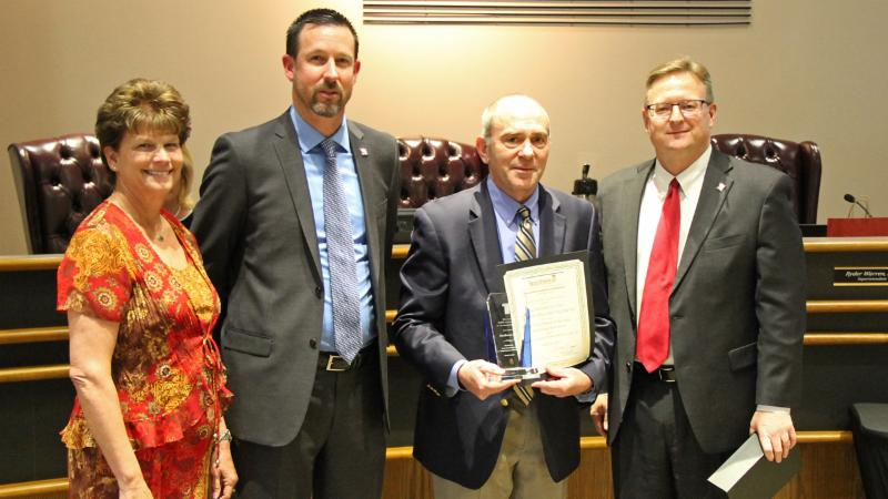 Trustees recognized the finance department for receiving a TASBO Award of Excellence.