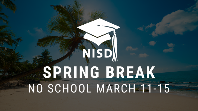 An image saying spring break lasts from March 11-15