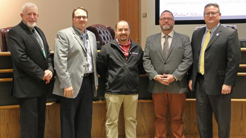 Trustees recognized Wilson_s band for performing at Tanger_s grand opening as well as earning a recent award.