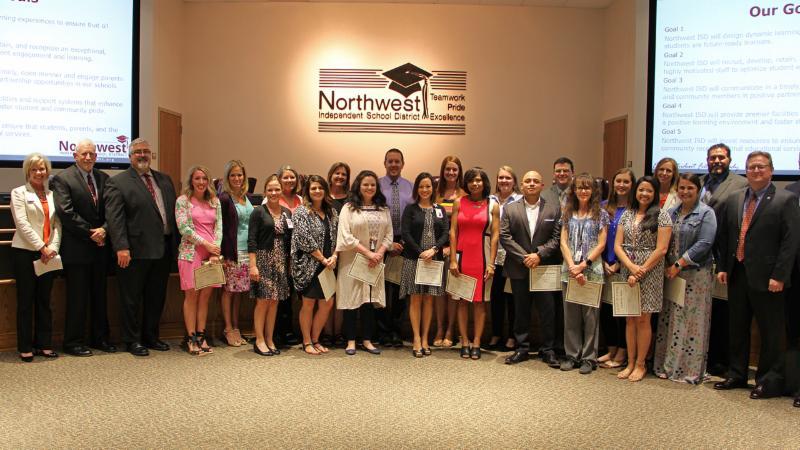 Trustees recognized graduates of the LEAP training program.