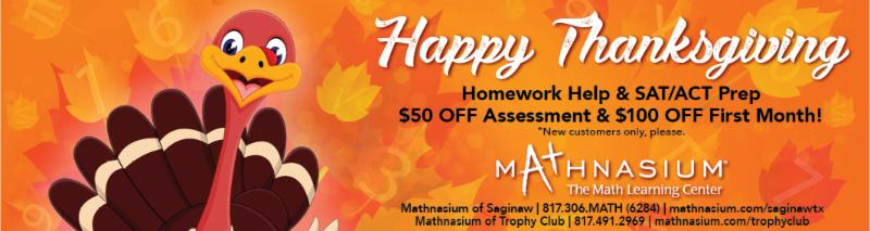 An advertisement for Mathnasium