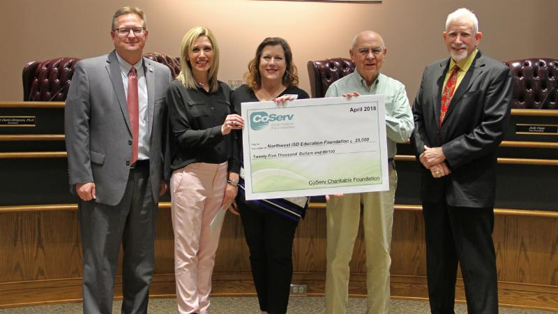 CoServ donated _25_000 to the Northwest ISD Education Foundation_ which supports teachers and students.