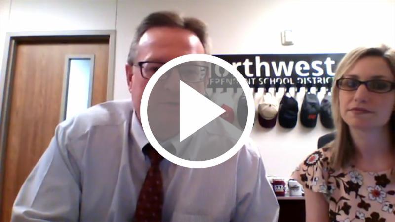 A screen capture of Dr. Warren talking on Facebook Live