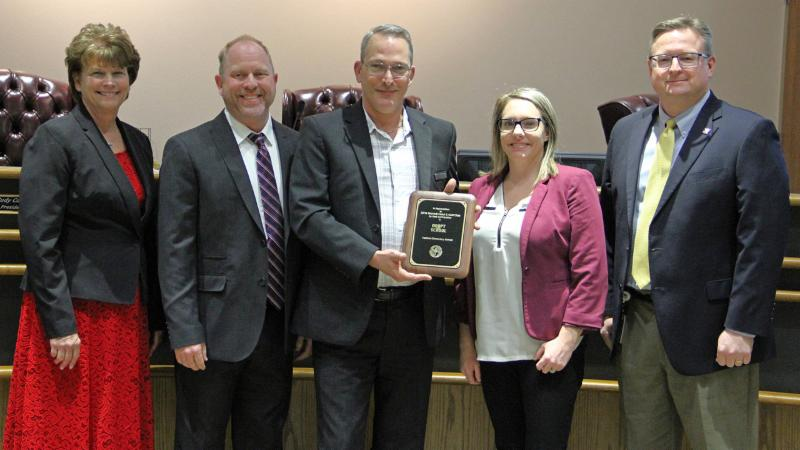 Trustees recognize DFW Marriott Hotel, an Adopt-A-School sponsor of Hatfield