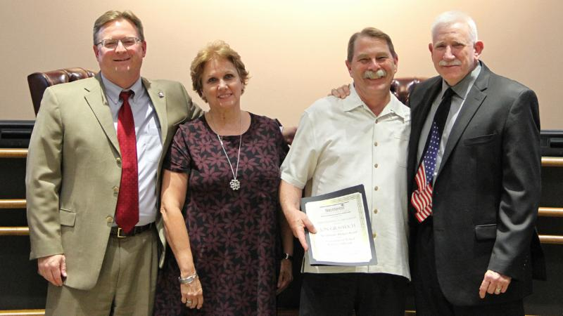 Trustees recognized district financial staff for recent awards in financial transparency and budgeting.
