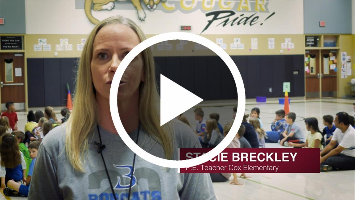 Stacie Breckley, P.E. teacher at Cox Elementary