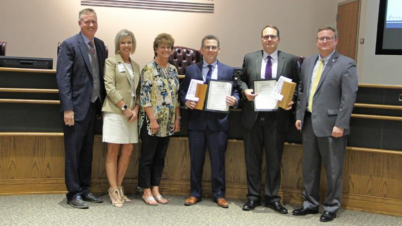 Trustees recognized Beck Elementary School and Wilson Middle School for their recent Schools Transforming Learning awards.
