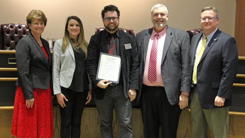 Jason Sanders, winner of Technology Administrator of the Year