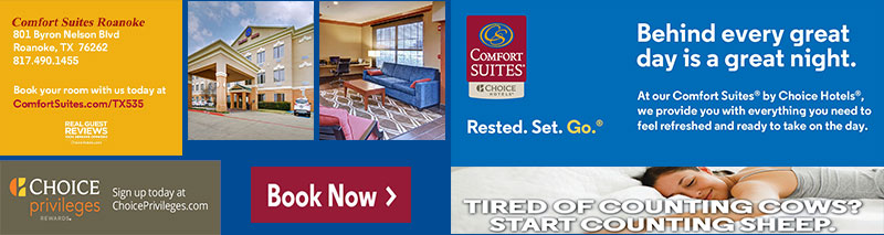 An advertisement for ComfortSuites