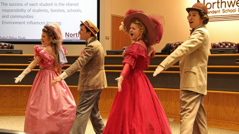 Northwest students performed a portion of their musical _Hello_ Dolly__ to trustees as appreciation for their work.