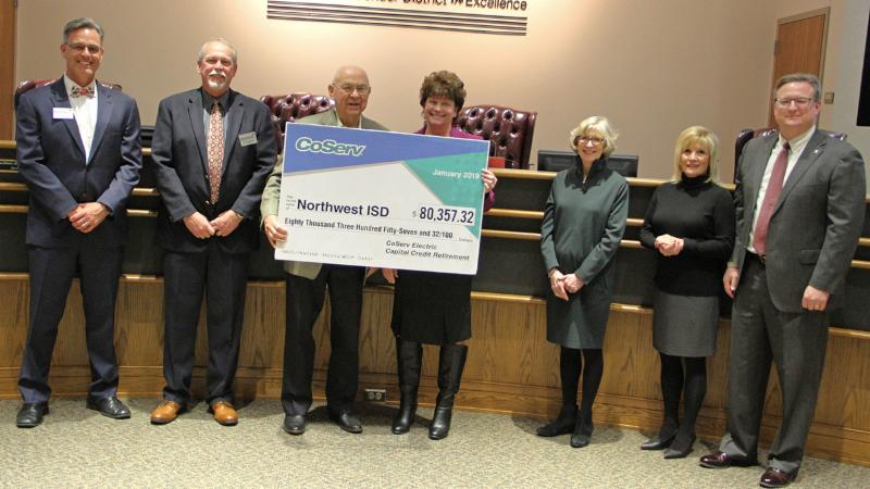 Trustees accepted a check from CoServ for its involvement with the cooperative