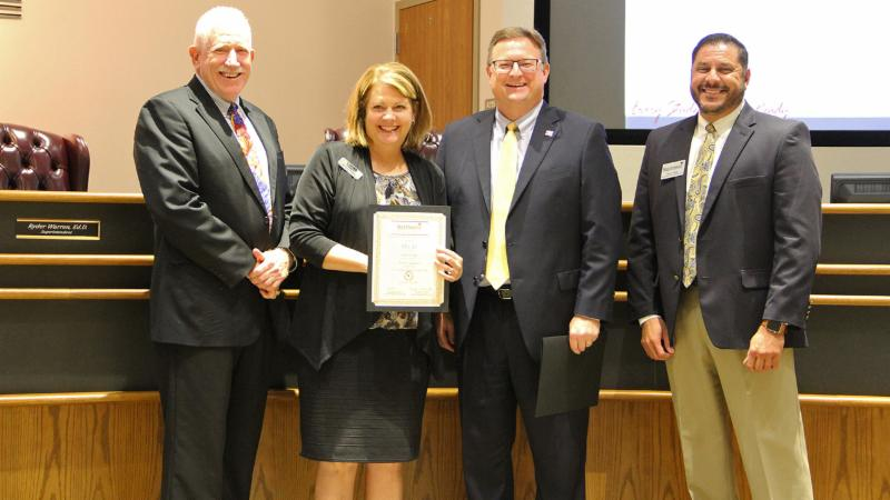 Partners in Education recognized EECU for its work helping district students.