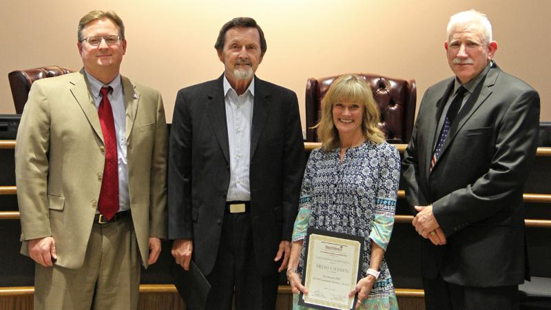 Trustees recognized the second-semester GEM winners.