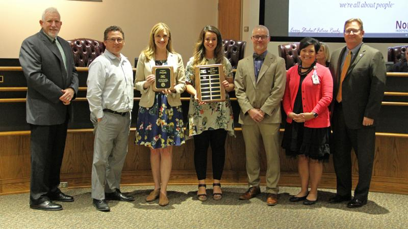 Trustees recognized Gateway Church of Southlake as a district Partner in Education.