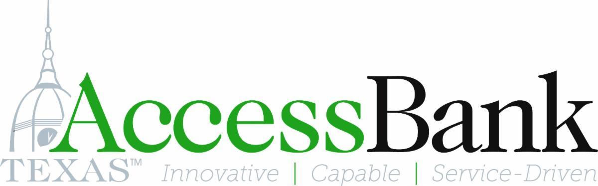 AccessBank Texas logo - Innovative, Capable, Service-Driven