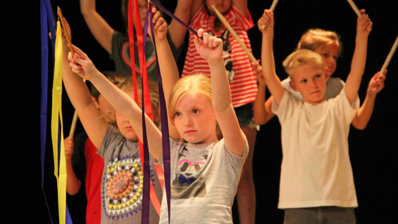 Elementary students take part in the summer Lion King musical