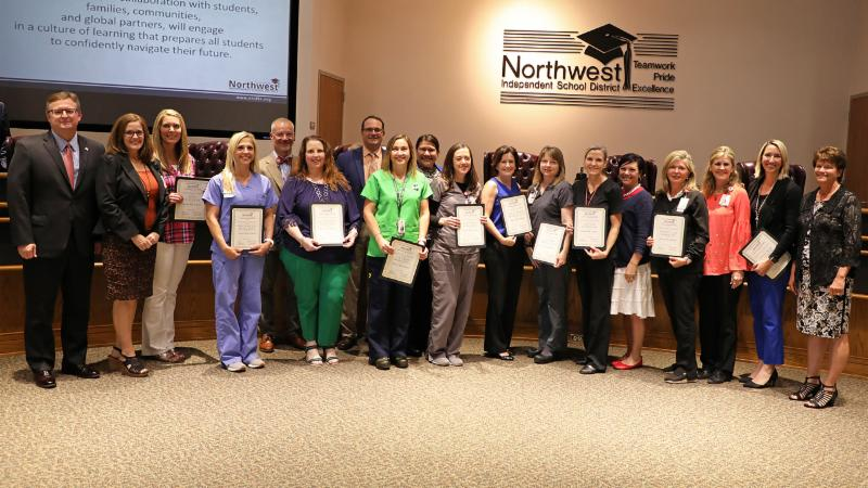 Trustees recognized schools and their nurses for completing Project ADAM certification for cardiovascular safety.