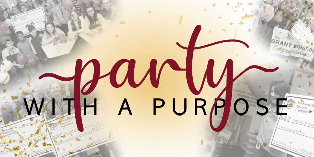 An image that says Party with a Purpose