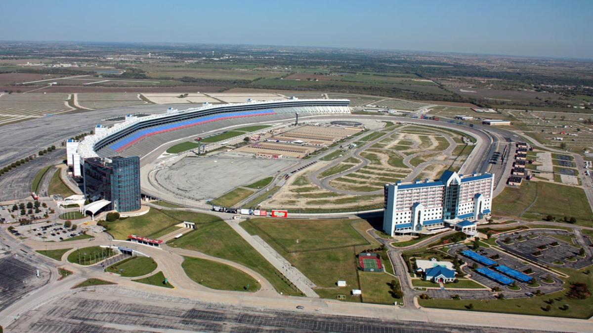 An aerial photo of Texas Motor Speedway