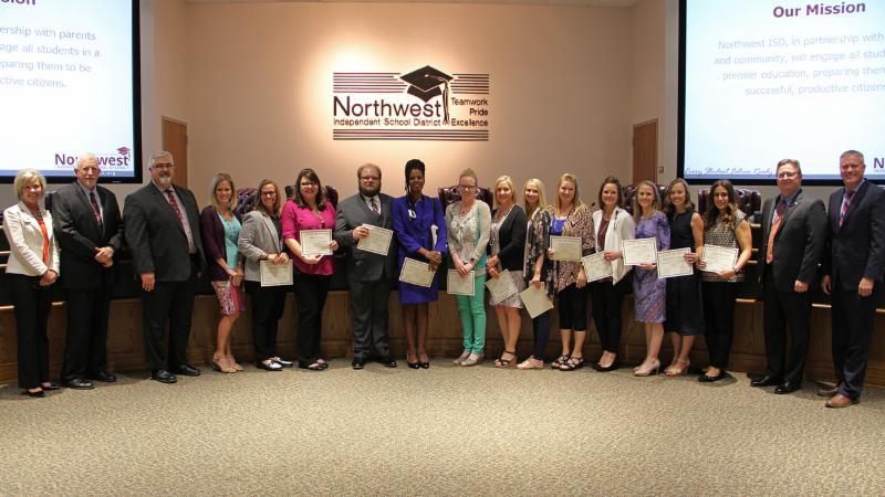 Trustees recognized graduates of the LEAD training program.