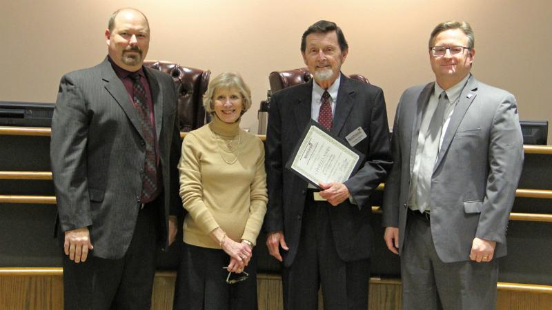 Trustees recognized Charles Ashby for the district's Energy Star certifications